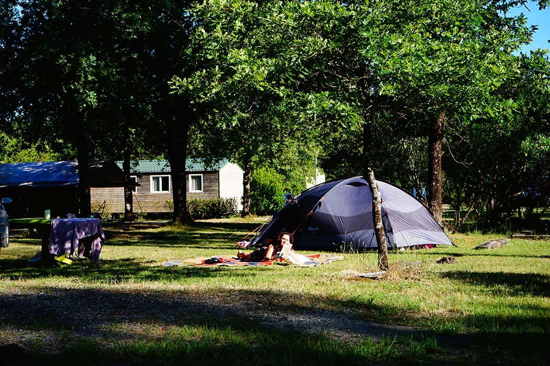 tente camping le médoc Bleu Carcans Gironde