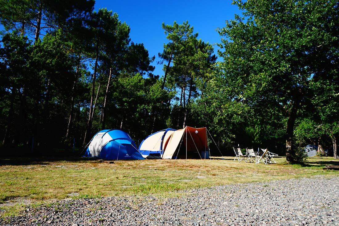 emplacements de camping le médoc Bleu Carcans Gironde
