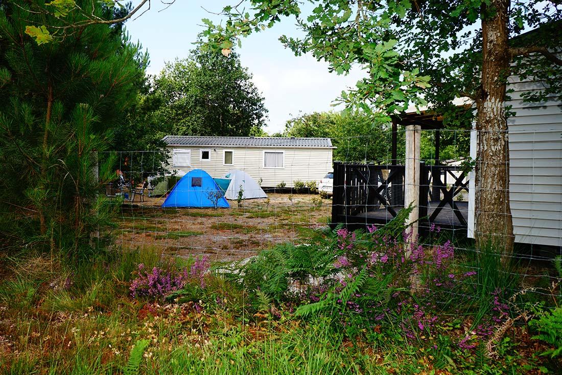 emplacements tente camping le médoc Bleu Carcans Gironde