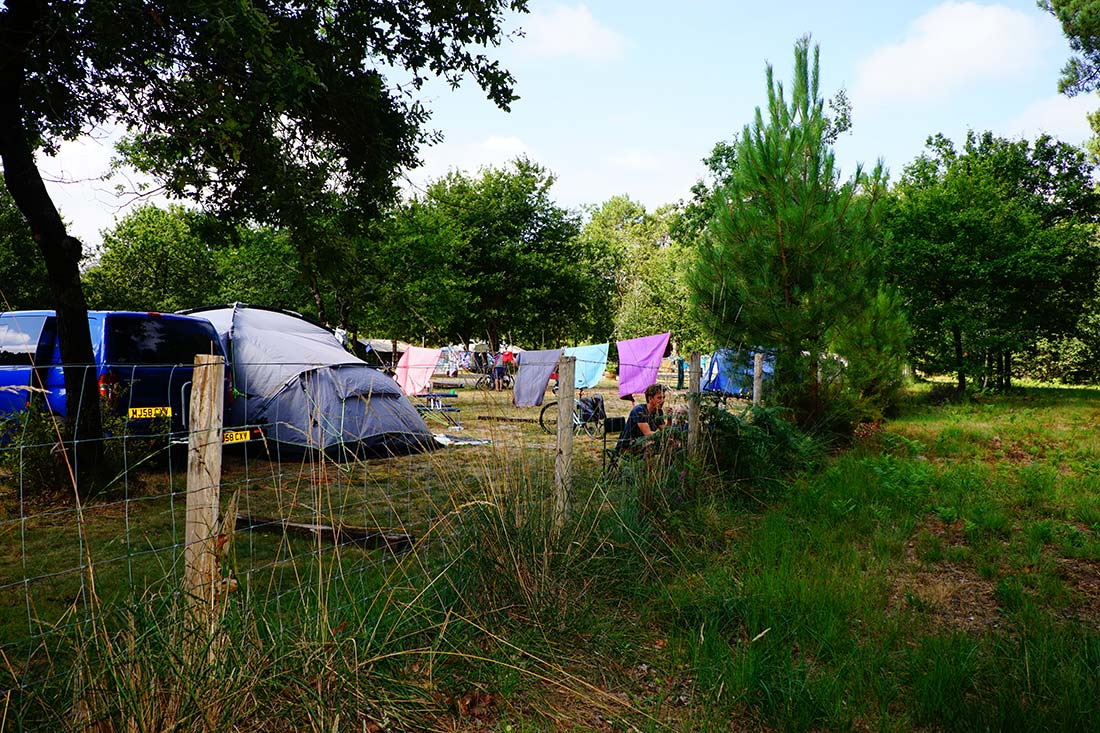 emplacement camping le médoc Bleu Carcans Gironde