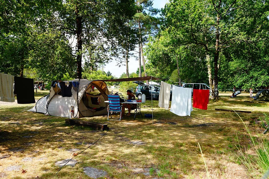 emplacements camping le médoc Bleu Carcans Gironde