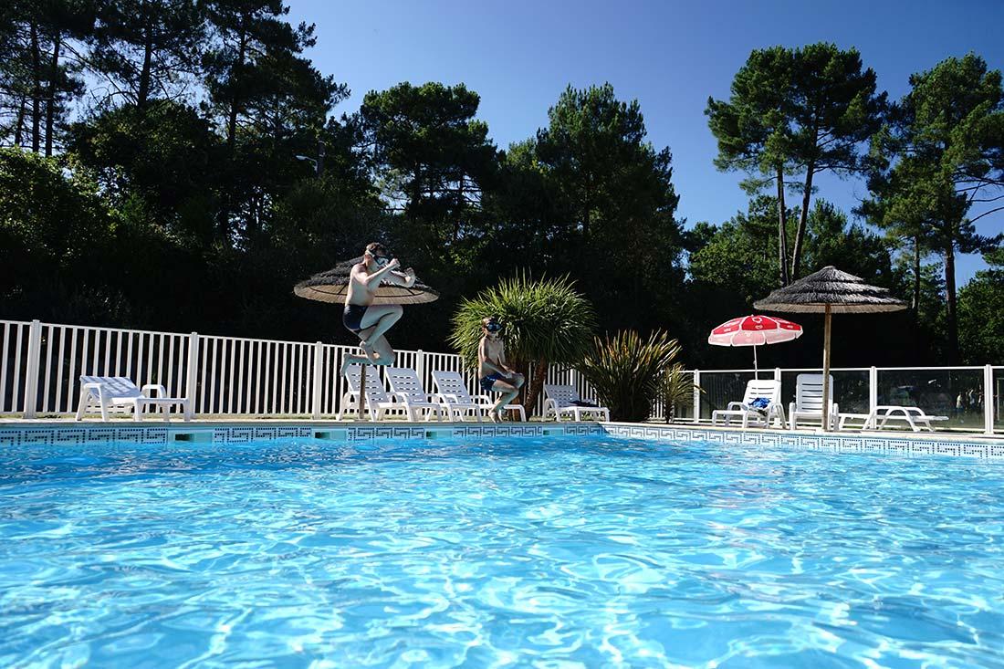 piscine chauffée du camping 1