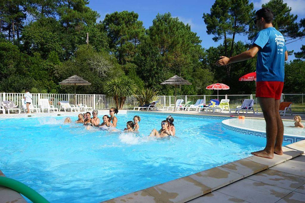 moniteur piscine aquagym camping le médoc Bleu Carcans Gironde