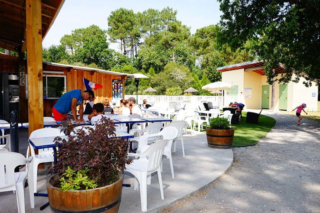 snack camping le médoc Bleu Carcans Gironde
