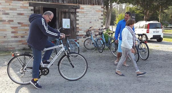 location de vélos carcans