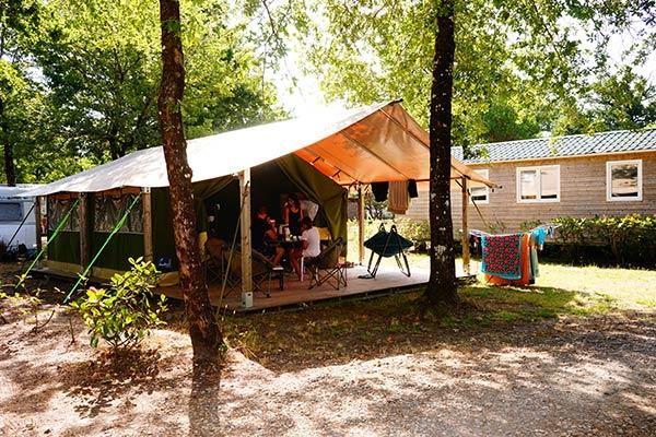 locatifs camping Carcans Médoc Bleu