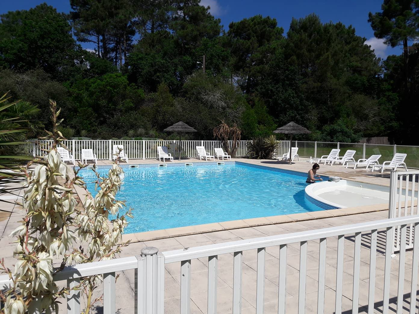 piscine chauffée du camping