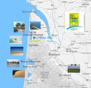 Carte tourisme Gironde