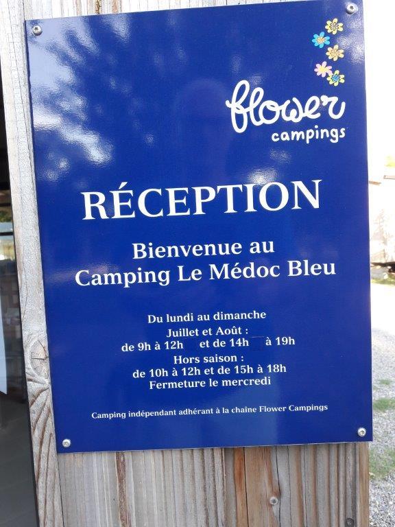 reception du camping