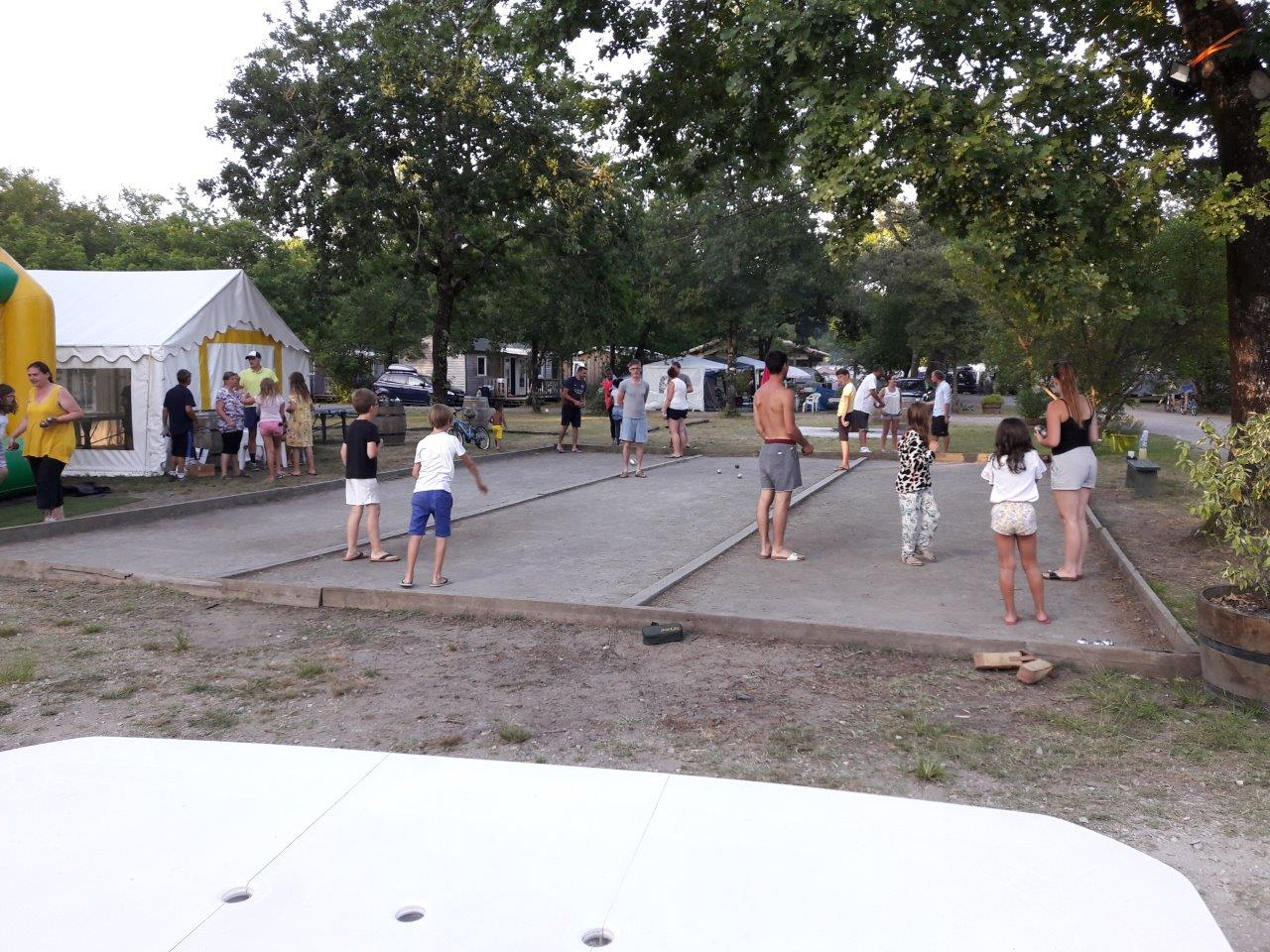 animation pétanque camping