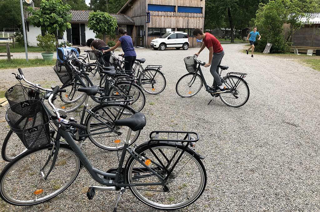 location de vélo au camping Accueil Vélo le médoc Bleu
