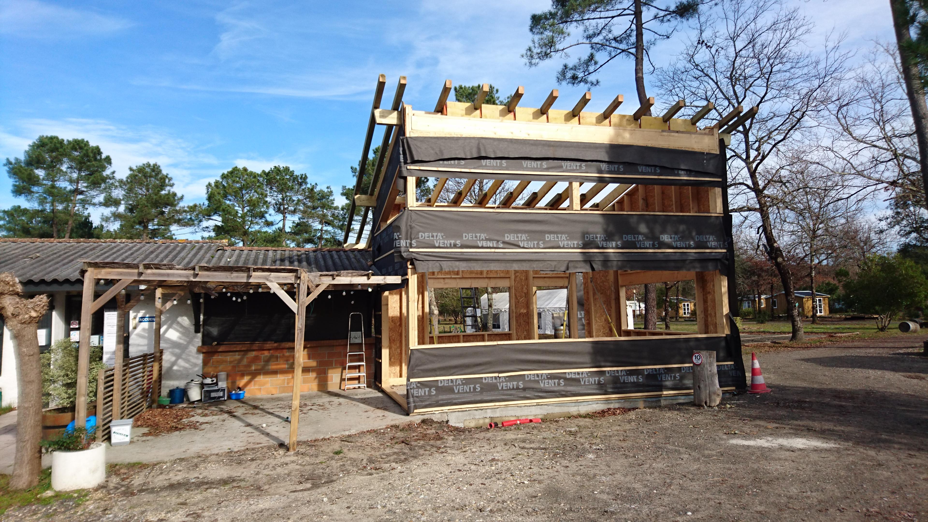 Construction du bâtiment d'accueil